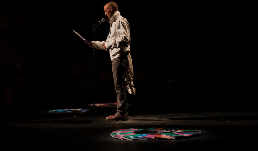 """Local actor Ian Lewis reading """"Thumber and Leo."""""""