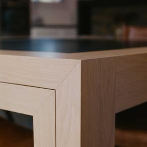 Détail angle table