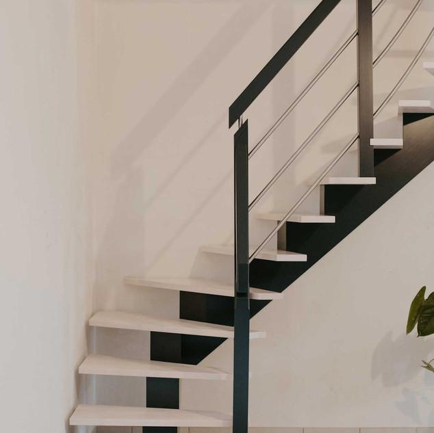 Escalier balancé 90°C