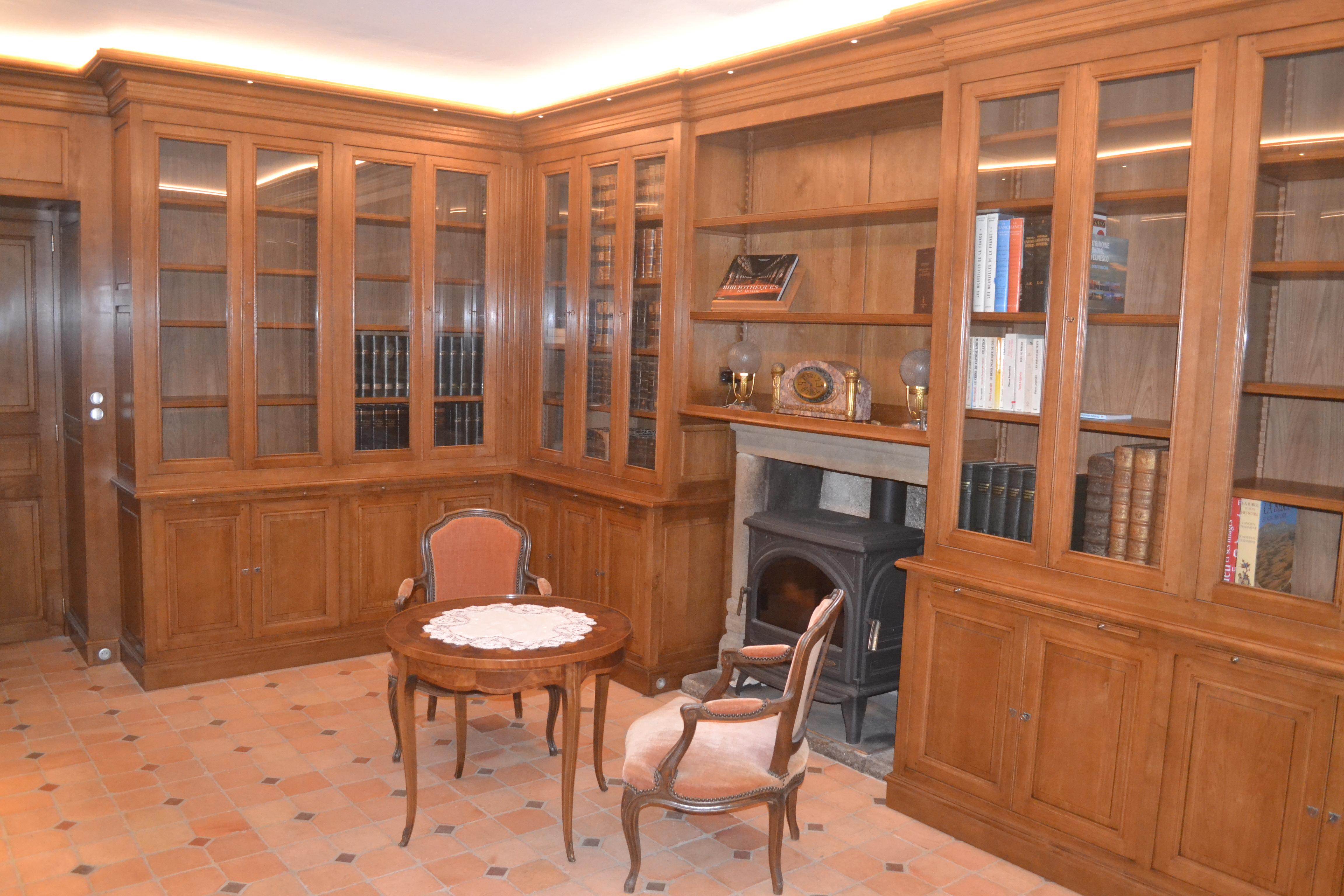 bibliothèque ancienne sur mesure