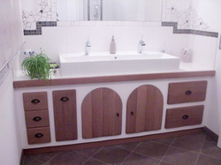 Salle de bain en chêne