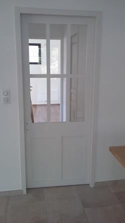 Porte verrière blanche
