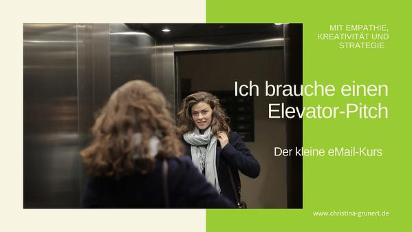 Entwickel deinen Elevator-Pitch-Mini-Kur