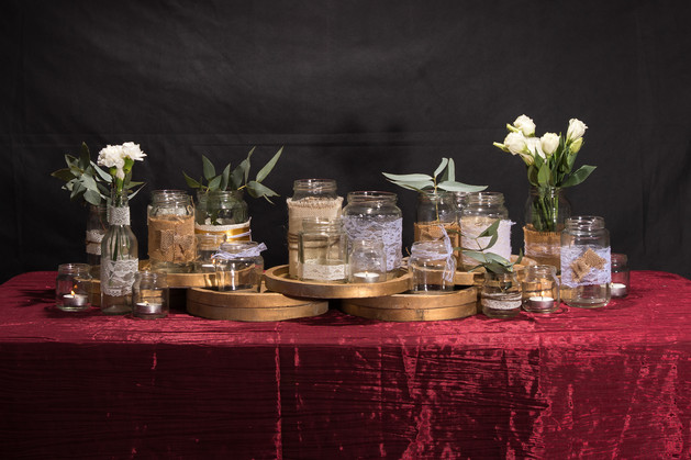 Various jars & Centrepieces