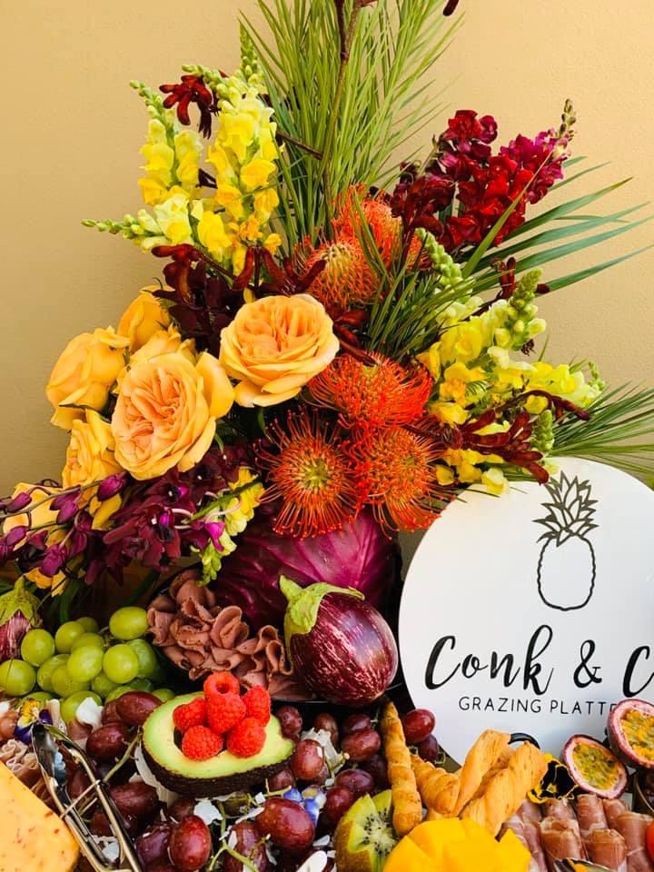 Conk & Co Catering - Purple Cabbage Arrangement