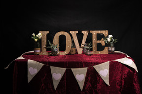 Hessian Bunting & LOVE letters