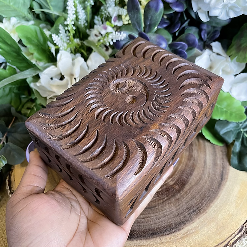 Yin Yang Wooden Box
