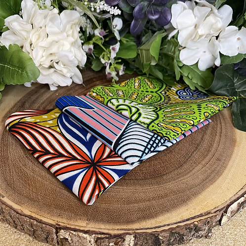 African Fabric Card Cloth X