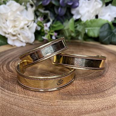 Om Brass & Copper Cuff