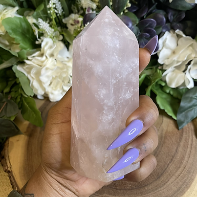 1.5lb Rose Quartz Tower