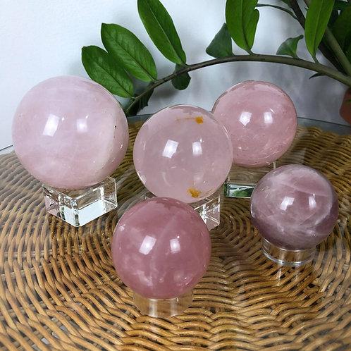 Rose Quartz Spheres