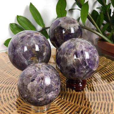 African Amethyst Spheres