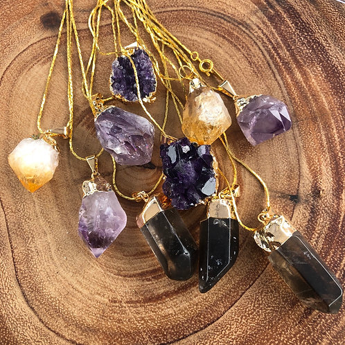Gold Plated Crystal Necklaces