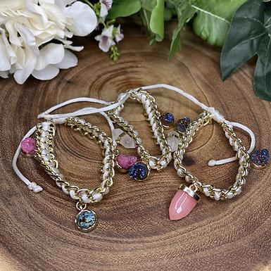 Druzy Charm Bracelets