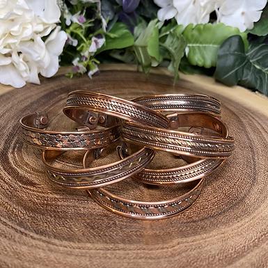 Patterned Copper Cuffs