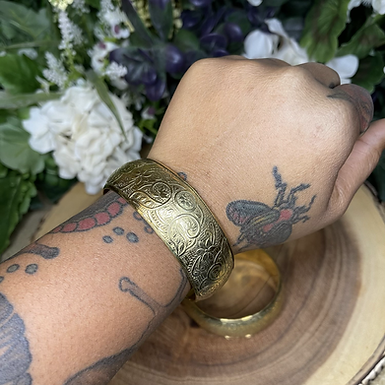 Floral Brass Bangle