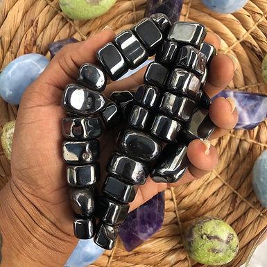 Vibrational Sticky Stones