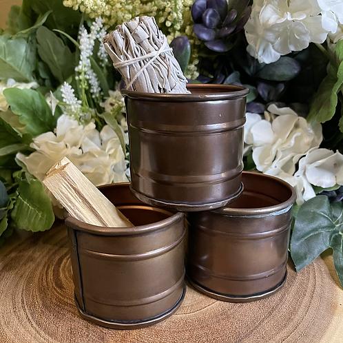 Natural Copper Smudge Pot