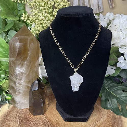 Crown Clear Quartz Necklace