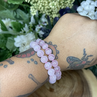 Juicy Rose Quartz Bracelets