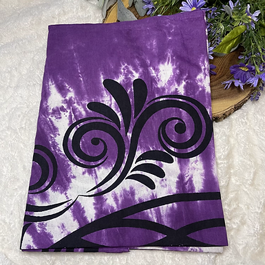 """58""""x 82"""" Purple Flower of Life Tapestry"""