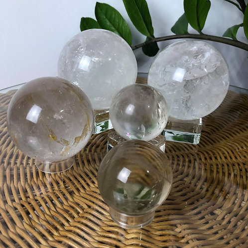 Madagascar Clear Quartz Spheres