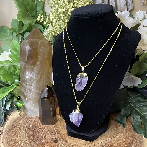 Golden Child Amethyst Necklace