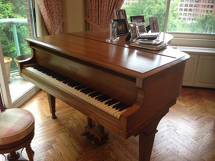 Fischer baby grand piano