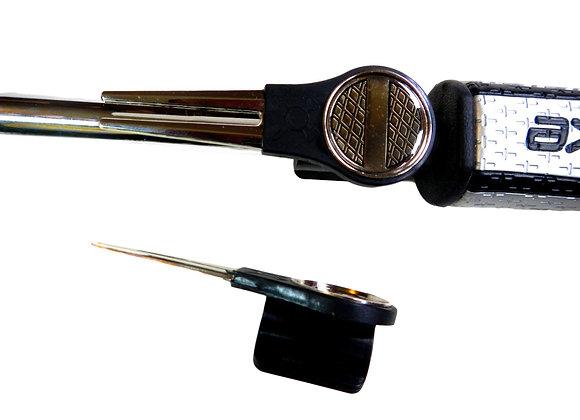 Putter Mounted Divot Tool and Ball Marker-GOLF BALL BLACK DIAMOND