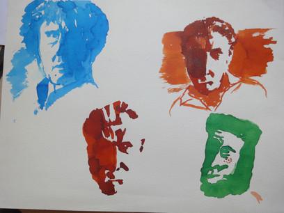 Portraits au pochoir