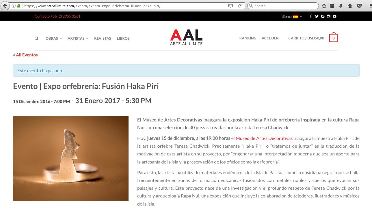 Arte Al Límite - 12/16 - Chile