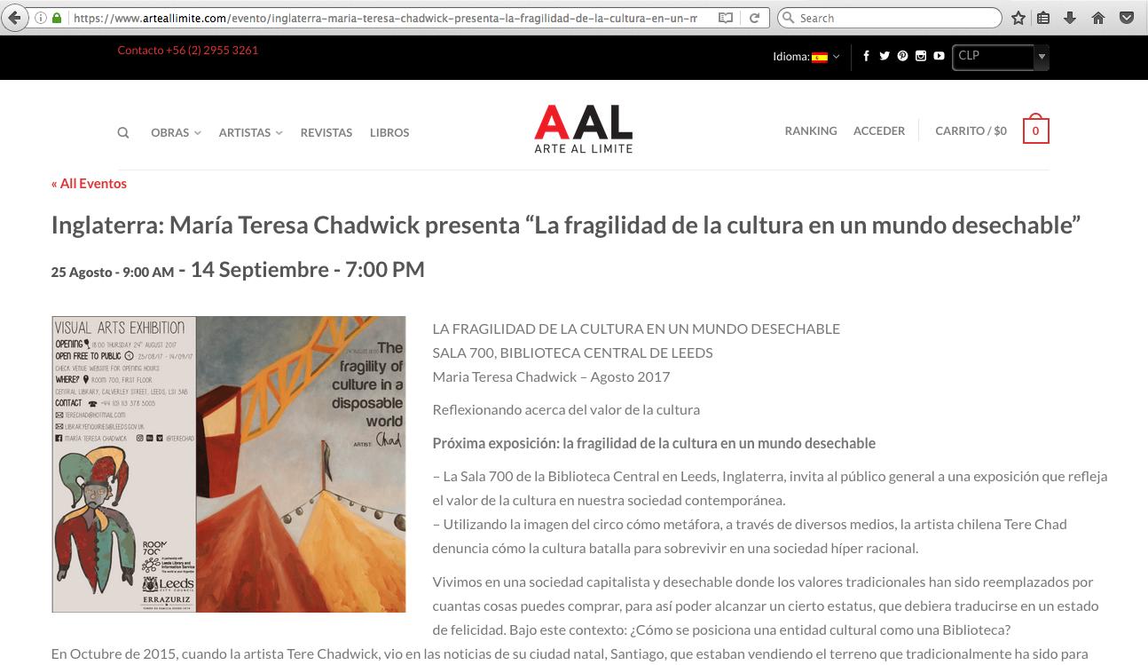 Arte Al Límite - 07/17 - Chile