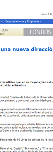 Article in chilean newspaper about Neo Norte's first exhibit