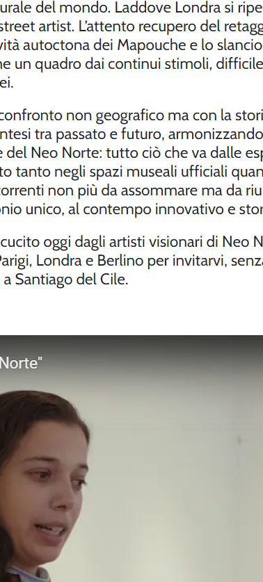 Italian's website article about Neo Norte 1.0