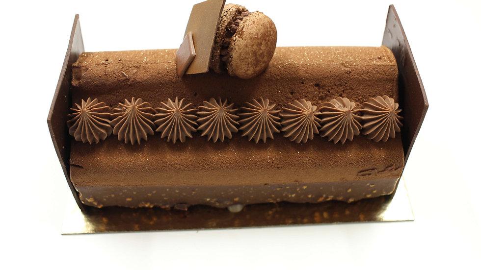 Bûche Chocolat Miel Orange confite