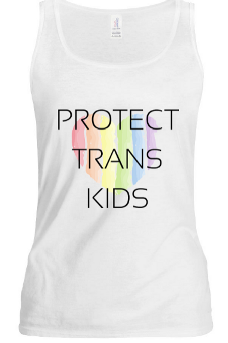 Rainbow Heart Protect Trans Tank