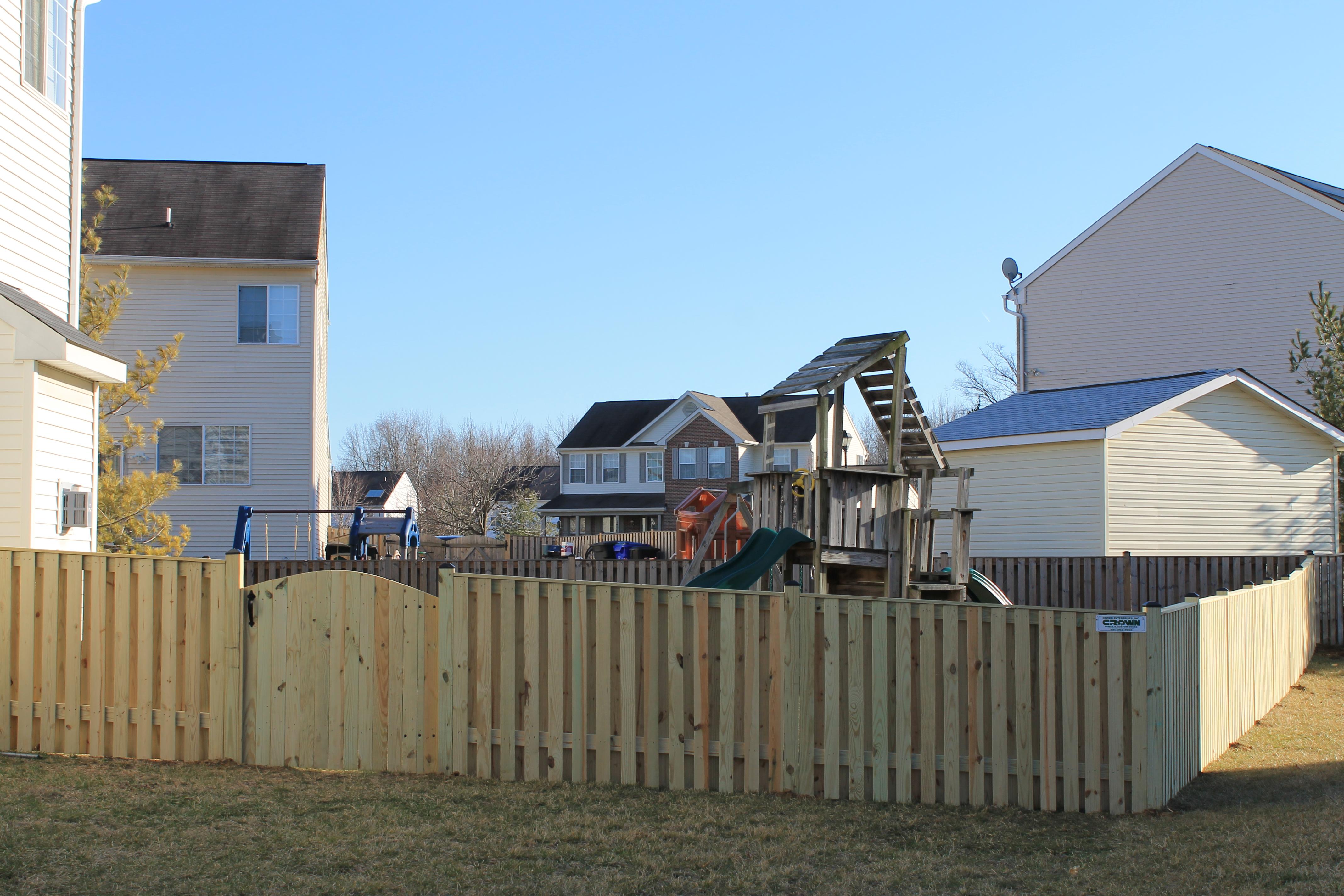 4' board on board fence