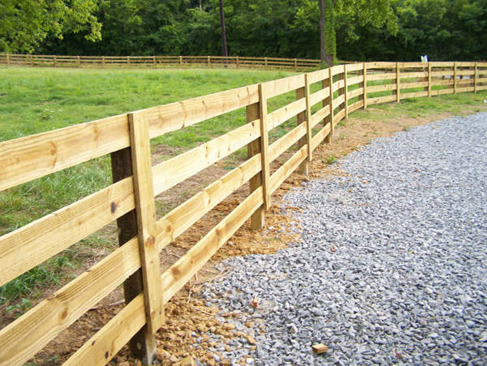 paddock style fence project