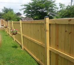 Solid Board Wood Fence