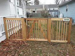 Crown Fence Wood Picket Gate