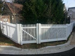 Crown Fence White Vinyl PVC fencing