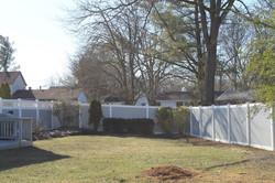 Back yard Fence two tone PVC VINYL.