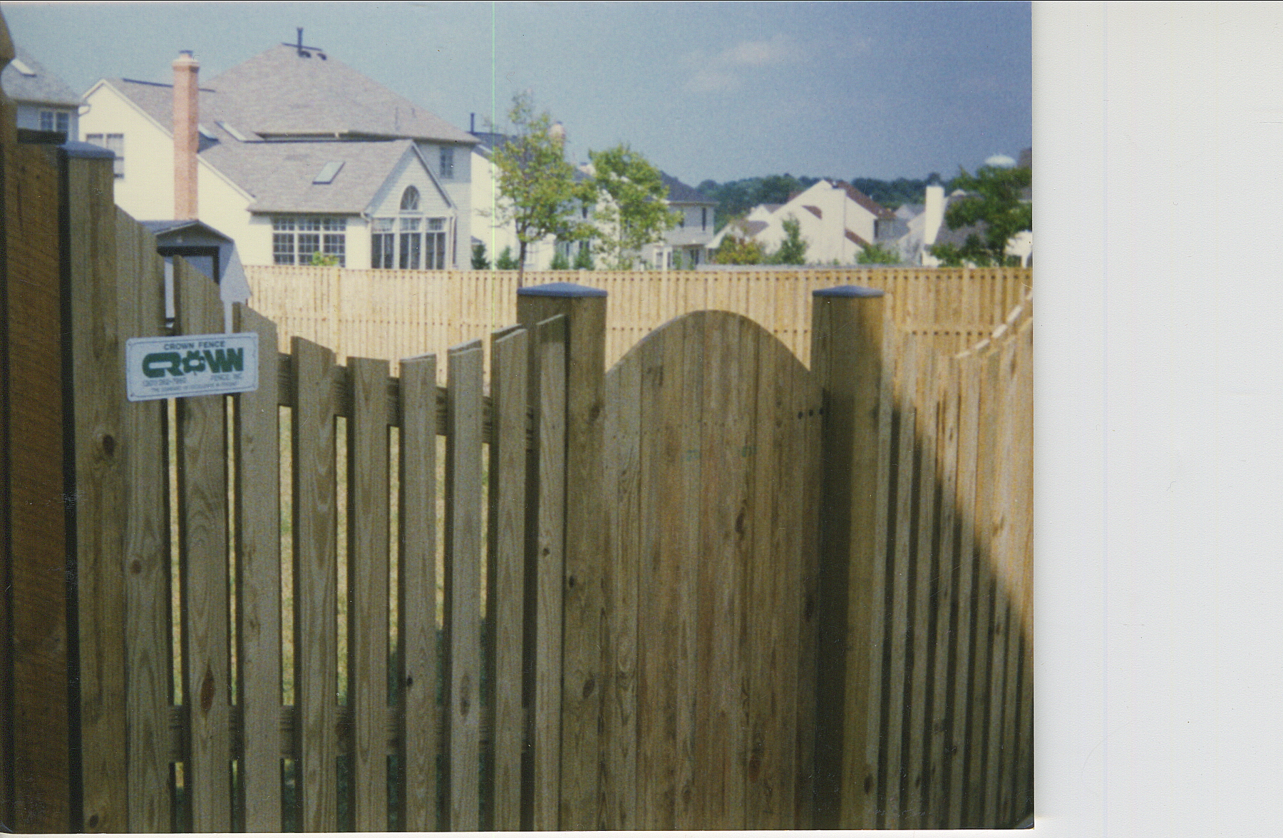 Crown Fence | Wood Privacy Gate