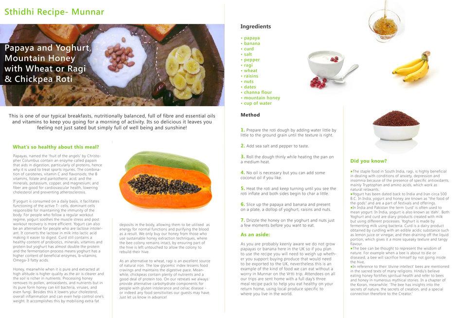 Sthidhi Munnar Recipe