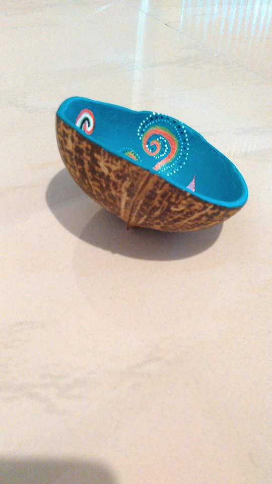 coconut shell painting 5