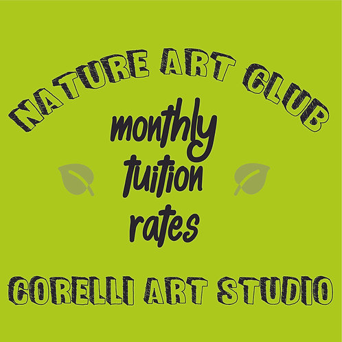 Nature Art Club - Monthly Rates