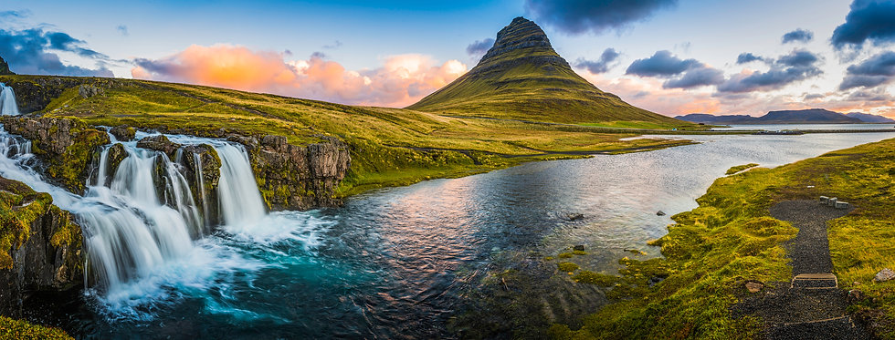 Idyllic-waterfall-sunrise-cloudscape-bes