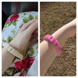 UV reactive bike chain inspired bracelet