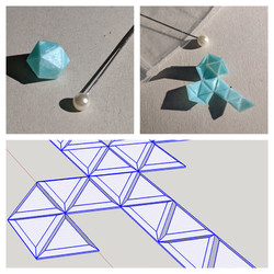 Tiny origami fold up D20 dice