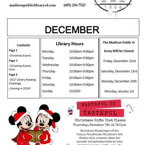December Newsletter + Happenings